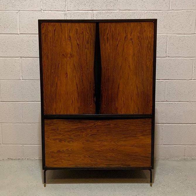 Mid-Century Modern Rosewood Dry Bar Cabinet