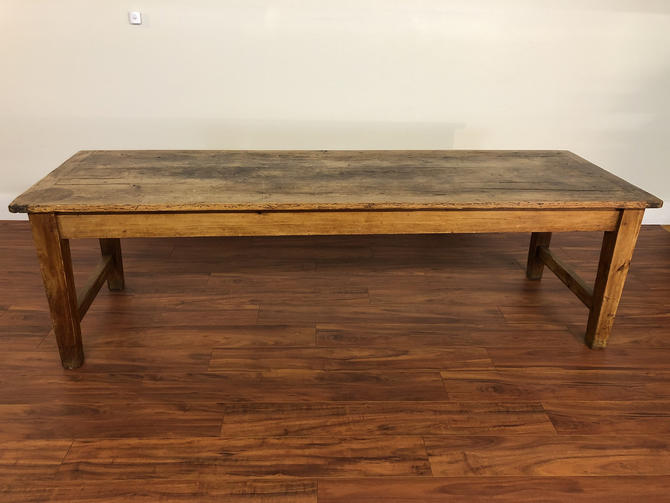 Antique Farmhouse Dining Table by Vintagefurnitureetc