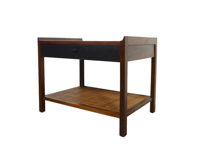 Walnut Nightstand Side Table Mid Century Modern by HearthsideHome