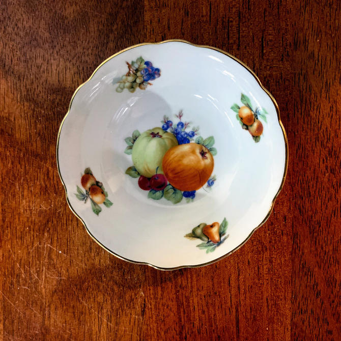 """Vintage Schumann Arzberg Bavaria China Fruits 5"""" Berry Bowl by OverTheYearsFinds"""