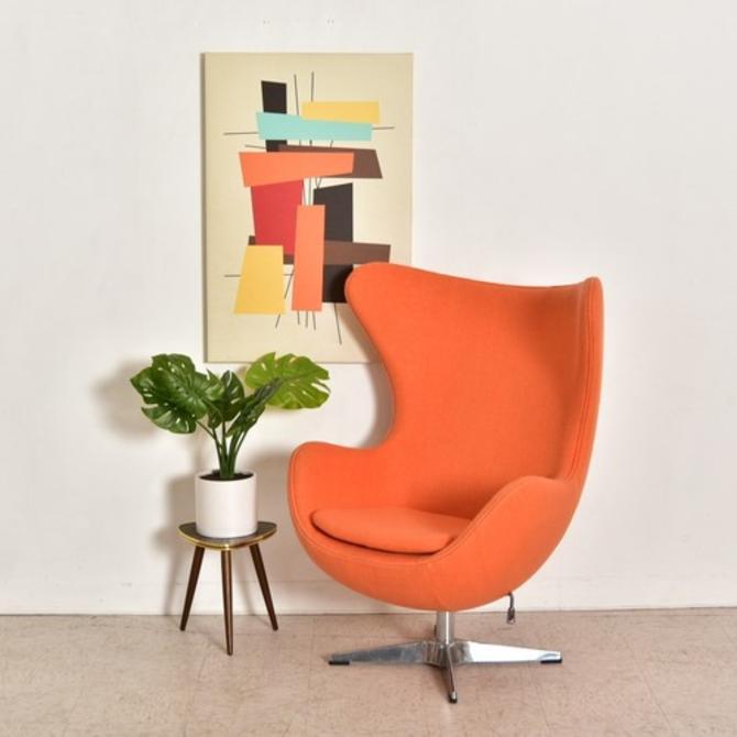 Orange Modern Swivel Chair