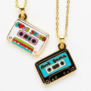 Yellow Owl Workshop - Cool Jams & Love Songs - 2-Sided Pendant