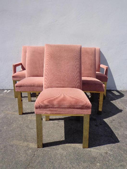 Stupendous 6 Dining Chairs Milo Baughman Dia Brass Mid Century Modern Dailytribune Chair Design For Home Dailytribuneorg