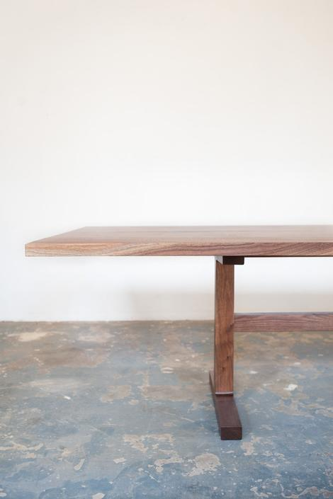Walnut Trestle Dining Table - Book Matched by dylangrey