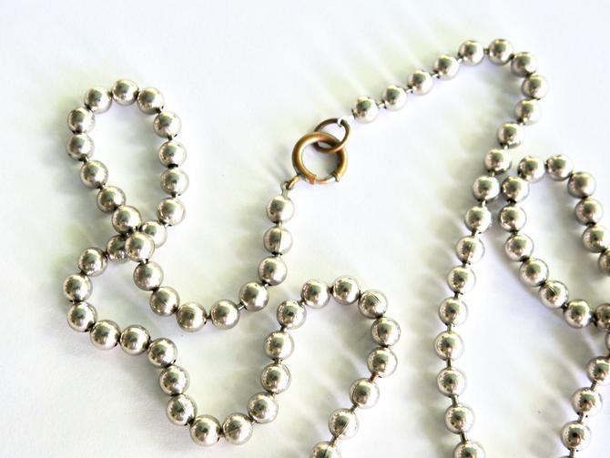 Deco Steel Beads Flapper Necklace by LegendaryBeast