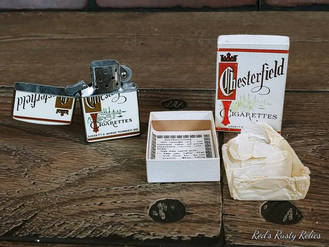 Vintage Chesterfield Lighter with Original Box by RedsRustyRelics
