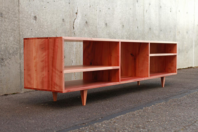 Braca Media Console, Mid-Century, Modern, Credenza (Shown in Madrone) by TomfooleryWood