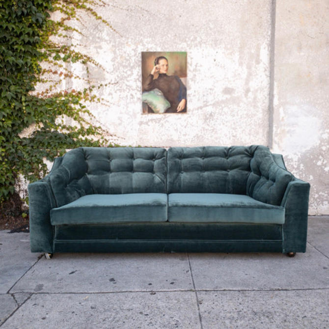 Vintage Loveseat in Original Vintage Velvet