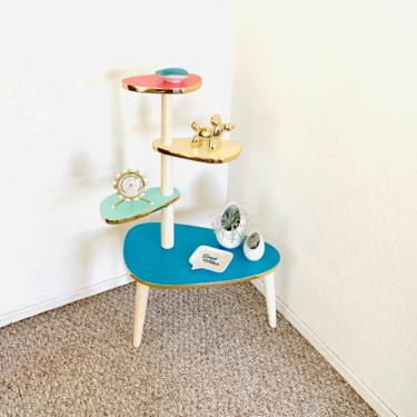 Space Age Tiered Formica Table - Reproduction - with minor imperfections by dadacat