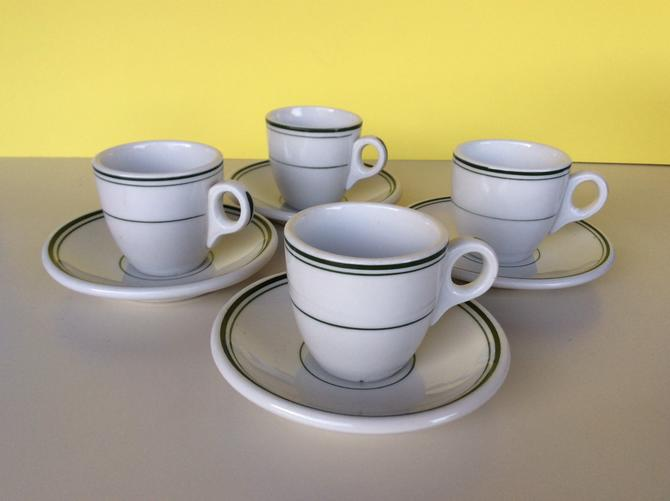 Sterling China of Ohio Set of 4 Expresso Cups and Saucers by nauhaus