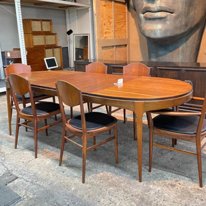Lane Walnut Extension Dining Table