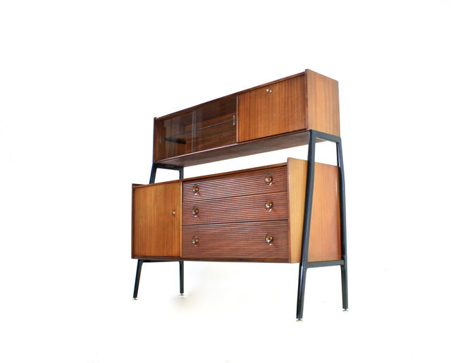 Mid Century Tall Credenza by Nathan by SputnikFurnitureLLC