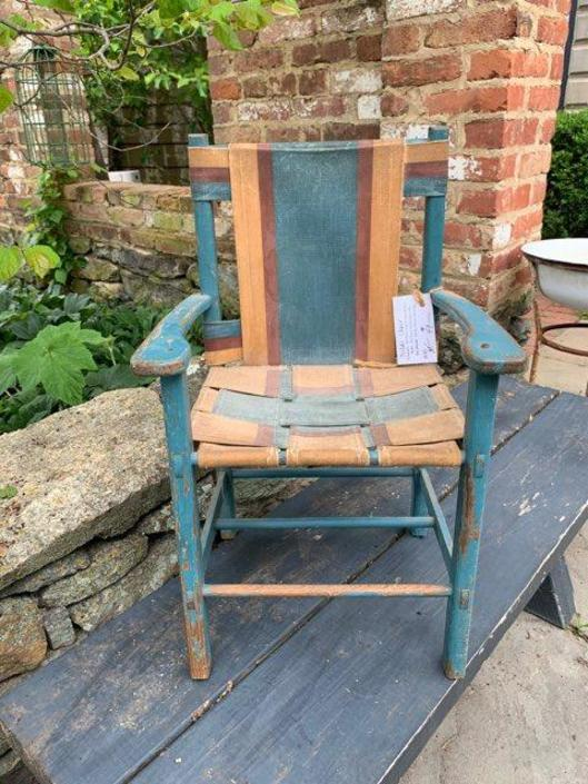 Vintage Woven Childs Chair