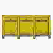 Distressed Rustic Neon Fluorescent Yellow Sideboard Console Table Cabinet cs5176S