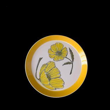 "Vintage Mid Century Modern MIKASA Duplex by Ben Seibel DUET 2501 Whimsical Floral Serving Platter 12.5"" 1970s Classic Dinnerware Pattern by SwankyChaperooo"