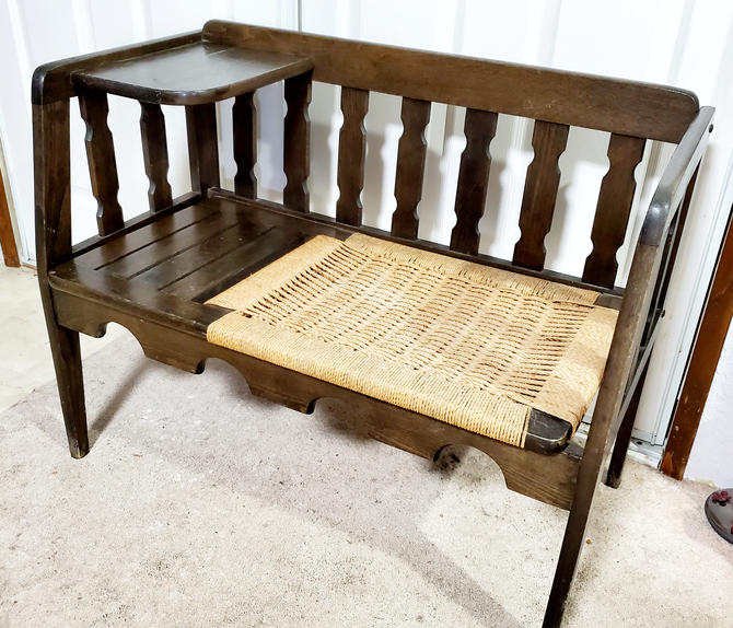 Vintage Farmhouse Bench by OrWaDesigns
