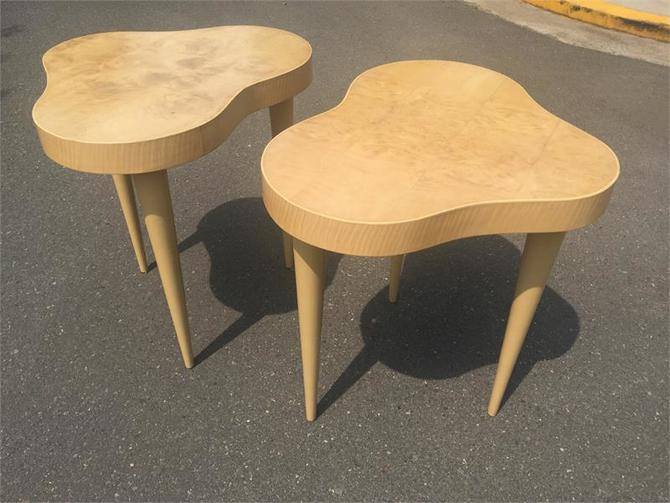 Pair Gilbert Rohde Herman Miller Cloud End Tables Model # 4187 Art Deco