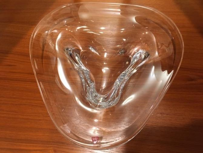 Large Orrefors Swedish Crystal Bowl