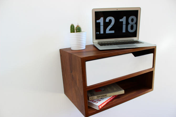 "Floating Nightstand / Hanging Table 16"" long by ImagoFurniture"