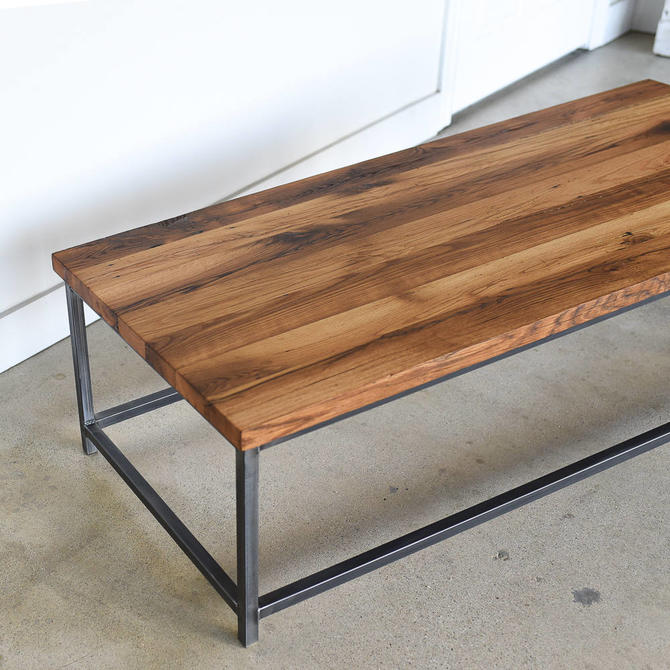 Industrial Coffee Table made from Reclaimed Wood / Steel Box Frame by wwmake