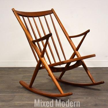 Frank Reenskaug Danish Teak Rocking Chair by mixedmodern1
