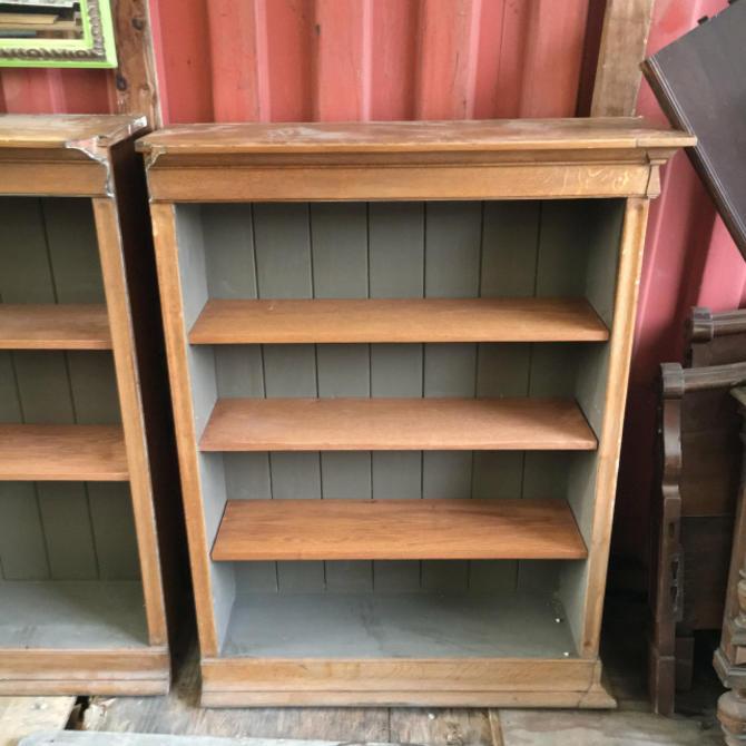 Solid Oak Bookshelves c. 1920s