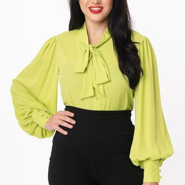 Unique Vintage Chartreuse Gwen Blouse