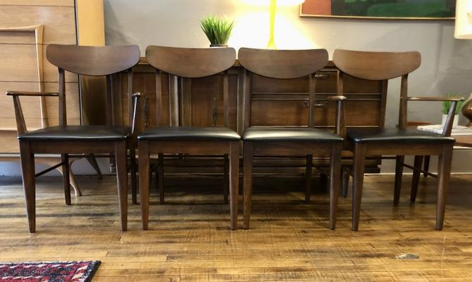 Set of 4 Danish Style Mid Century Dining Chairs 1960's