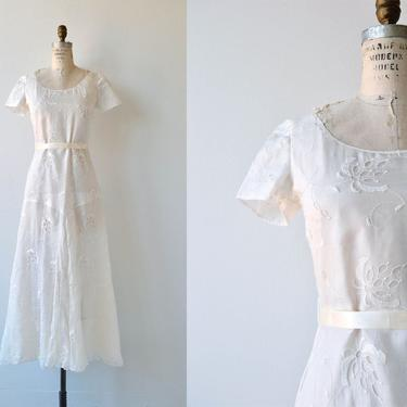 State of Grace wedding gown   vintage 1930s wedding dress   embroidered 30s wedding dress by DEARGOLDEN