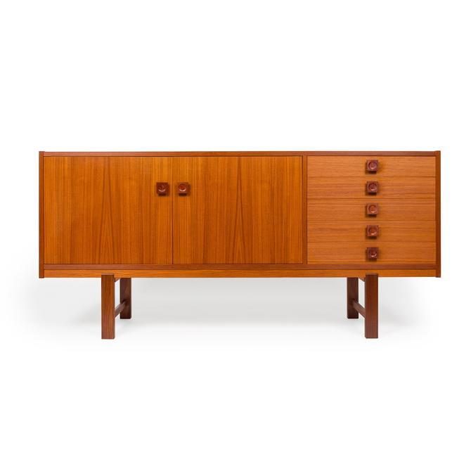 Vintage Danish Mid-Century Teak Credenza with Square Pulls by MCMSanFrancisco