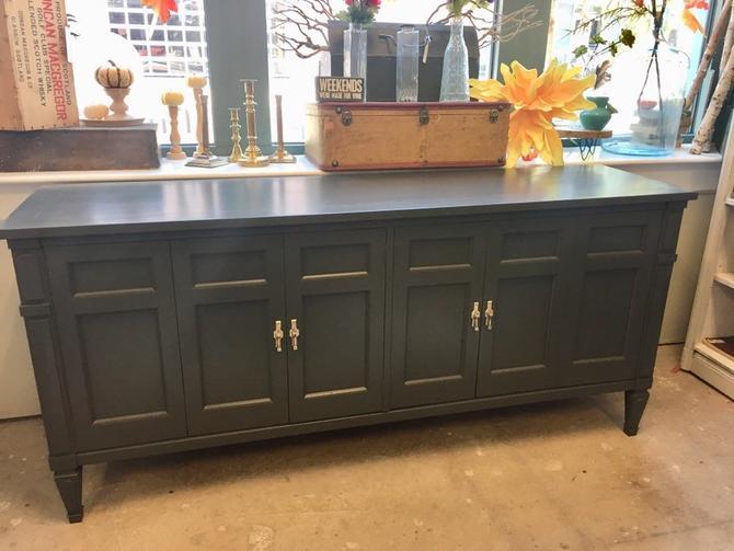 Truman- Long Ebony Italian Dresser by StylishPatina