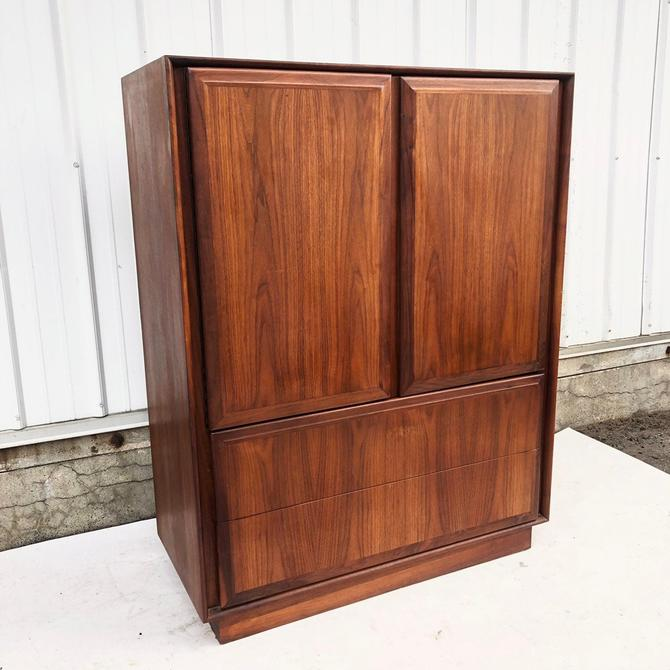 Mid-Century Walnut Armoire Dresser by Dillingham by secondhandstory