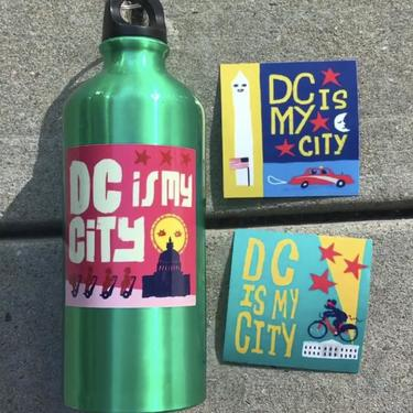 DC IS MY CITY stickers