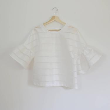 White Tulip Top by shopjoolee