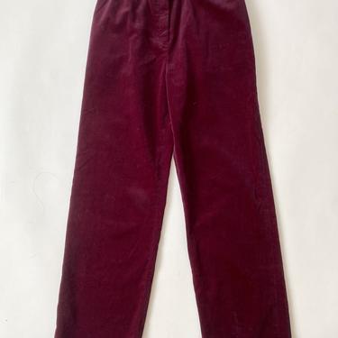 Plum Velvet Trousers!