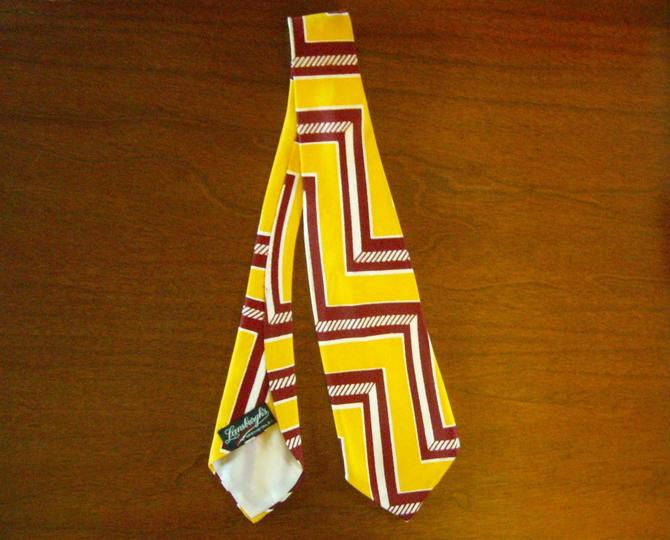 Vintage Washington Maroon and Gold Tie from Lansburgh's of D.C. HTTR!! by nauhaus