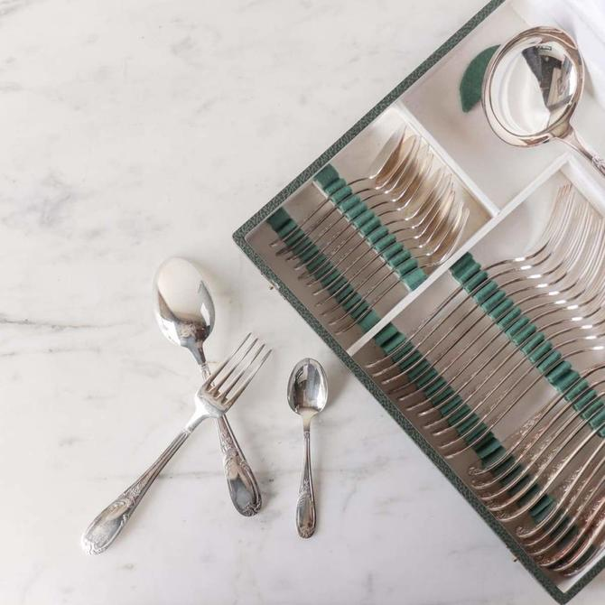 Matched French Flatware set Of 37