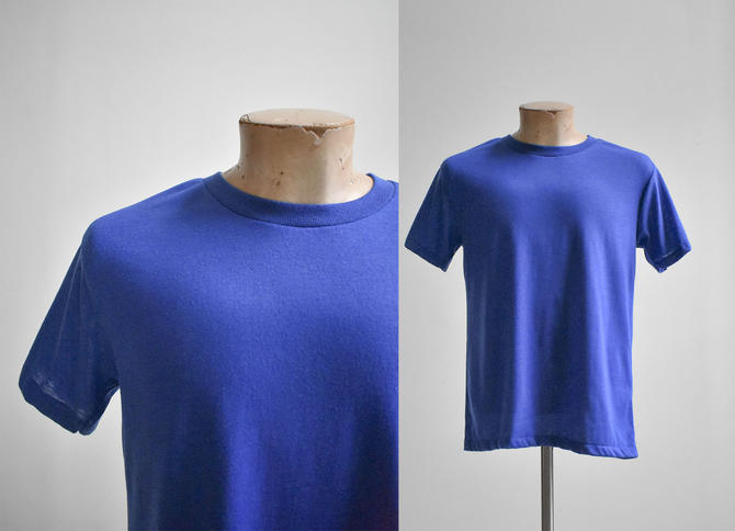 Vintage Dark Blue Blank Tshirt by milkandice