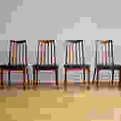 Mid Century Danish Modern 6 Teak G-Plan Dining Chairs by SharkGravy