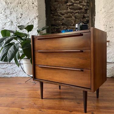 Mid century dresser Danish modern bachelors chest mid century chest of drawers by VintaDelphia