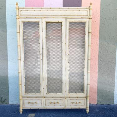 Century Faux Bamboo Cabinet
