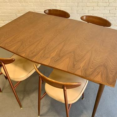 GORGEOUS Mid Century Walnut DINING TABLE + 3 Expansion Leaves by CIRCA60