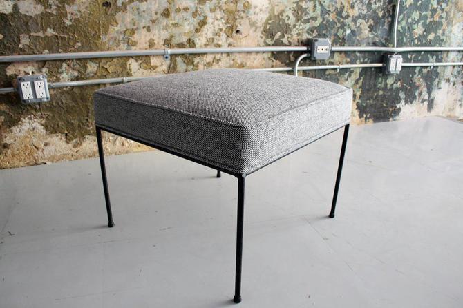Paul Mccobb Stool in Maharam Wool Fabric