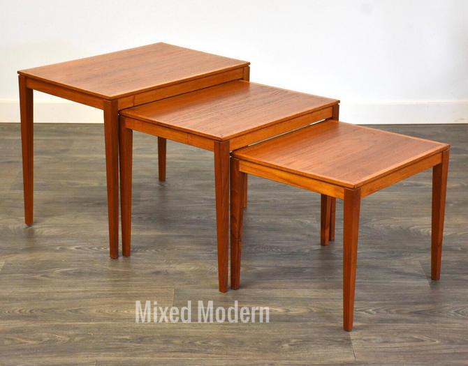 Danish Modern Teak Nesting Tables - Set of 3 by mixedmodern1