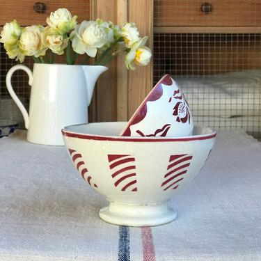 Lovely set of 2 vintage French cafe au lait bowl- SCB2 by Grainsacfrenchvintag