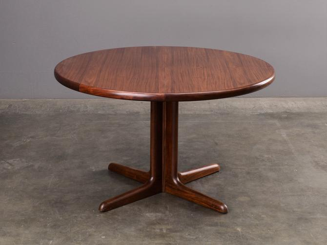 Vintage Rosewood Round to Oval Dining Table Danish Modern Skovby by MadsenModern