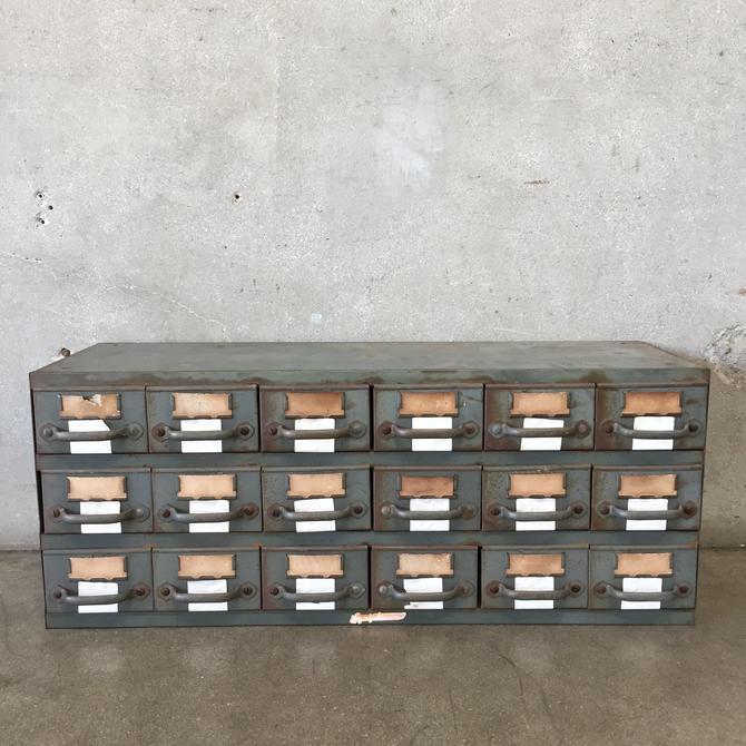 Vintage Industrial Catalog Drawer Cabinet