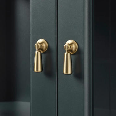 Swinging Pendant Cabinet Knobs, Gold Drop Knob, Nickel Drawer Pull by FarmhouseNook