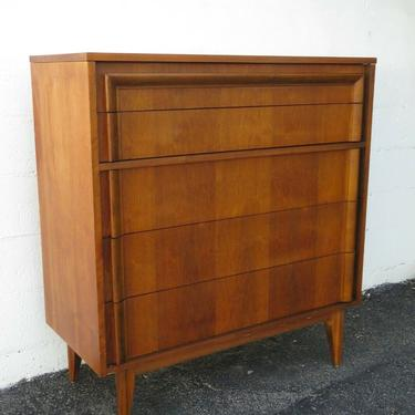 Mid Century Modern Tall Chest of Drawers by Basic Witz 2403