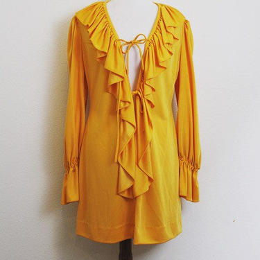 Vintage 1960's Mr. Boots ruffled dress by MamaTequilasVintage